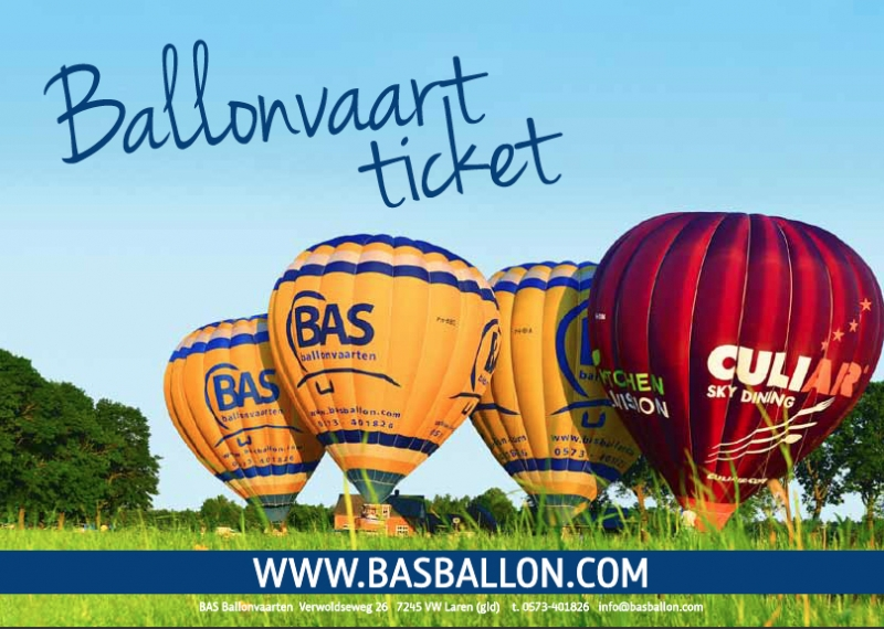 Ballonvaart Cadeaubon