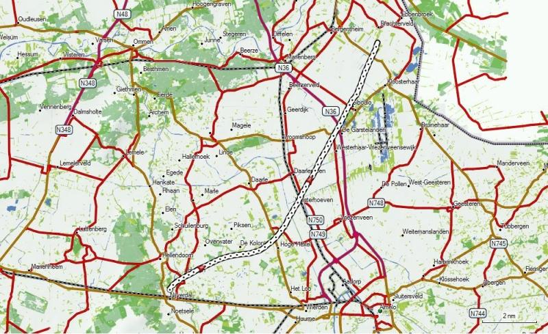Ballonvaart Route