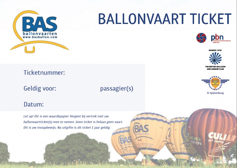 Ballonvaart Ticket