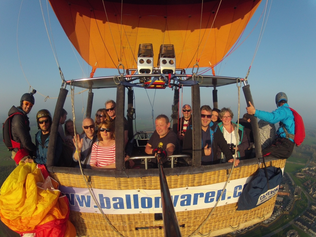 Ballonvaren in Deventer met Piloot Marcel