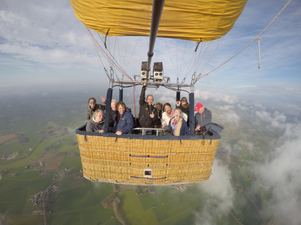 GTST team in de luchtballon