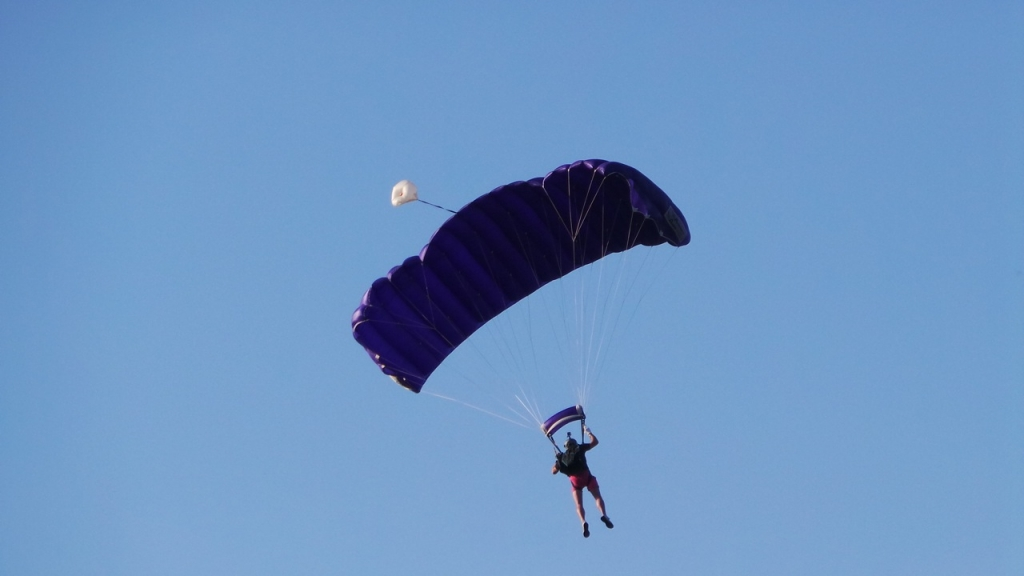 Parachutist Steve Brown