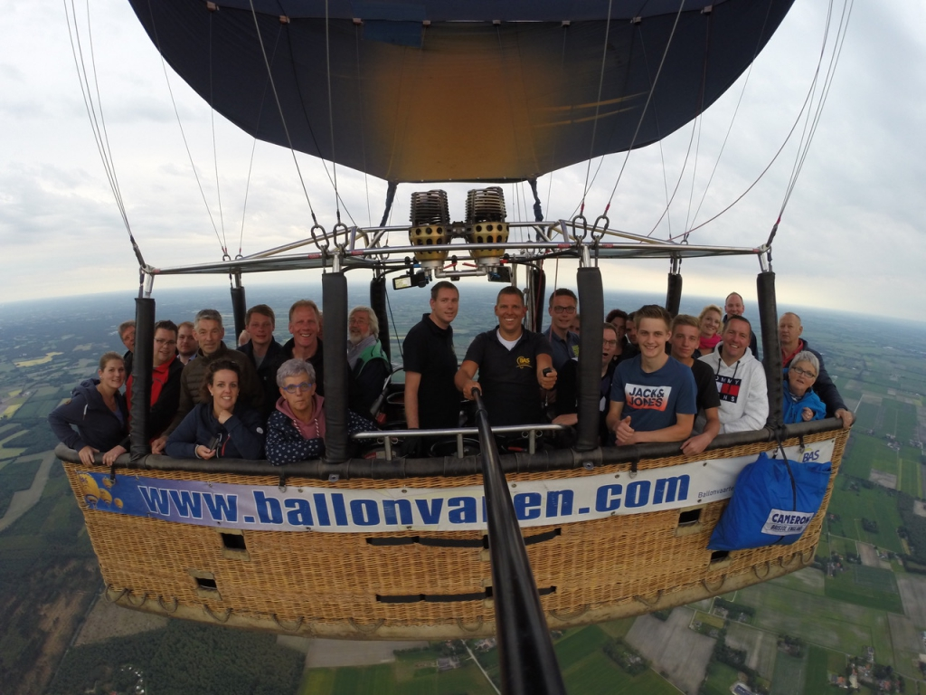 Prive ballonvaart geland in Sibculo