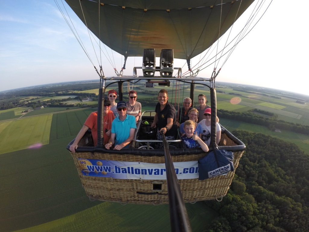 Prive ballonvaart in Noord Sleen