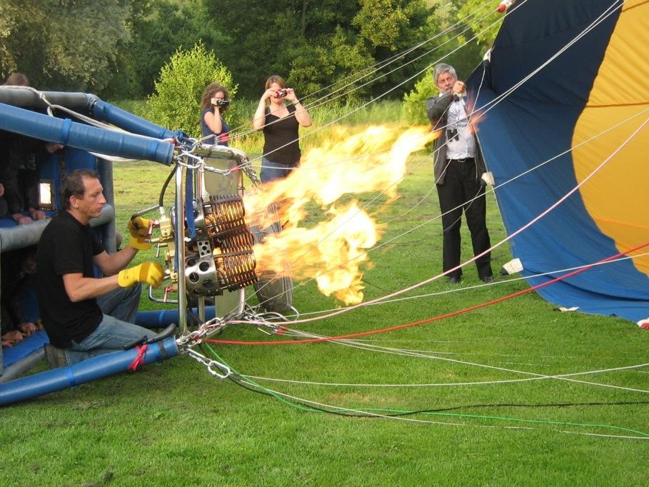 Verwarmen van de luchtballon