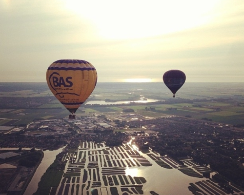Ballonvaart boven Heerhugowaard