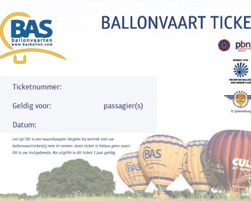 Ballonvaart Ticket