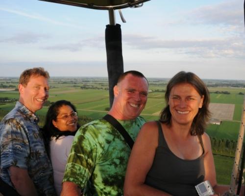 Ballonvaart boven Noord Holland