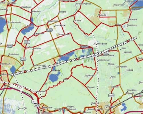 Ballonvaart route Zuid Holland