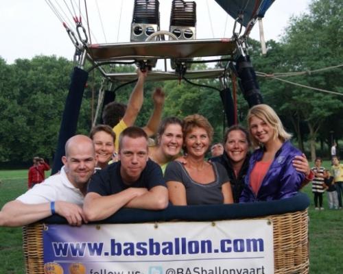 Ballonvaren vanaf het Transwijkpark in Utrecht