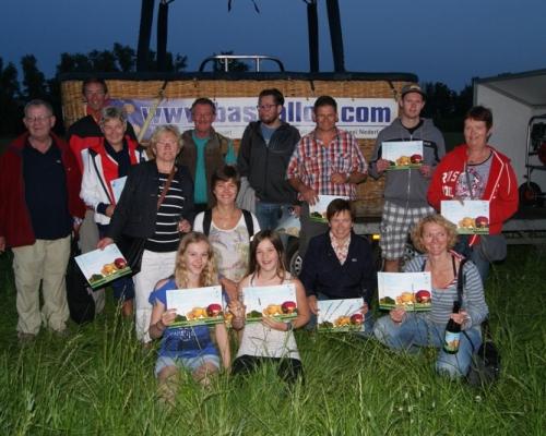 Groepsfoto ballonvaarders Nieuwegein