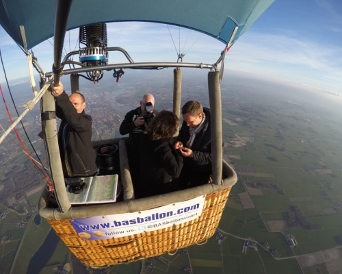 Huwelijksaanzoek Luchtballon met fotograaf