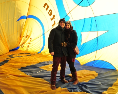 Huwelijksaanzoek in een Luchtballon