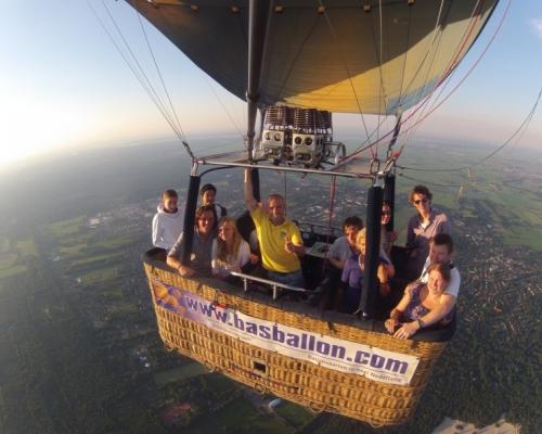 Luchtballon boven de Heuvelrug
