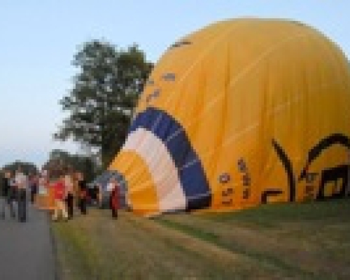 Luchtballon landing Erica