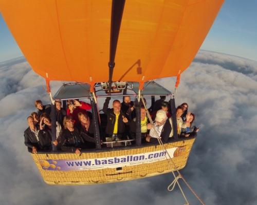 Luchtballonvaart boven Nijmegen