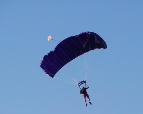 Parachutist Steve Brown